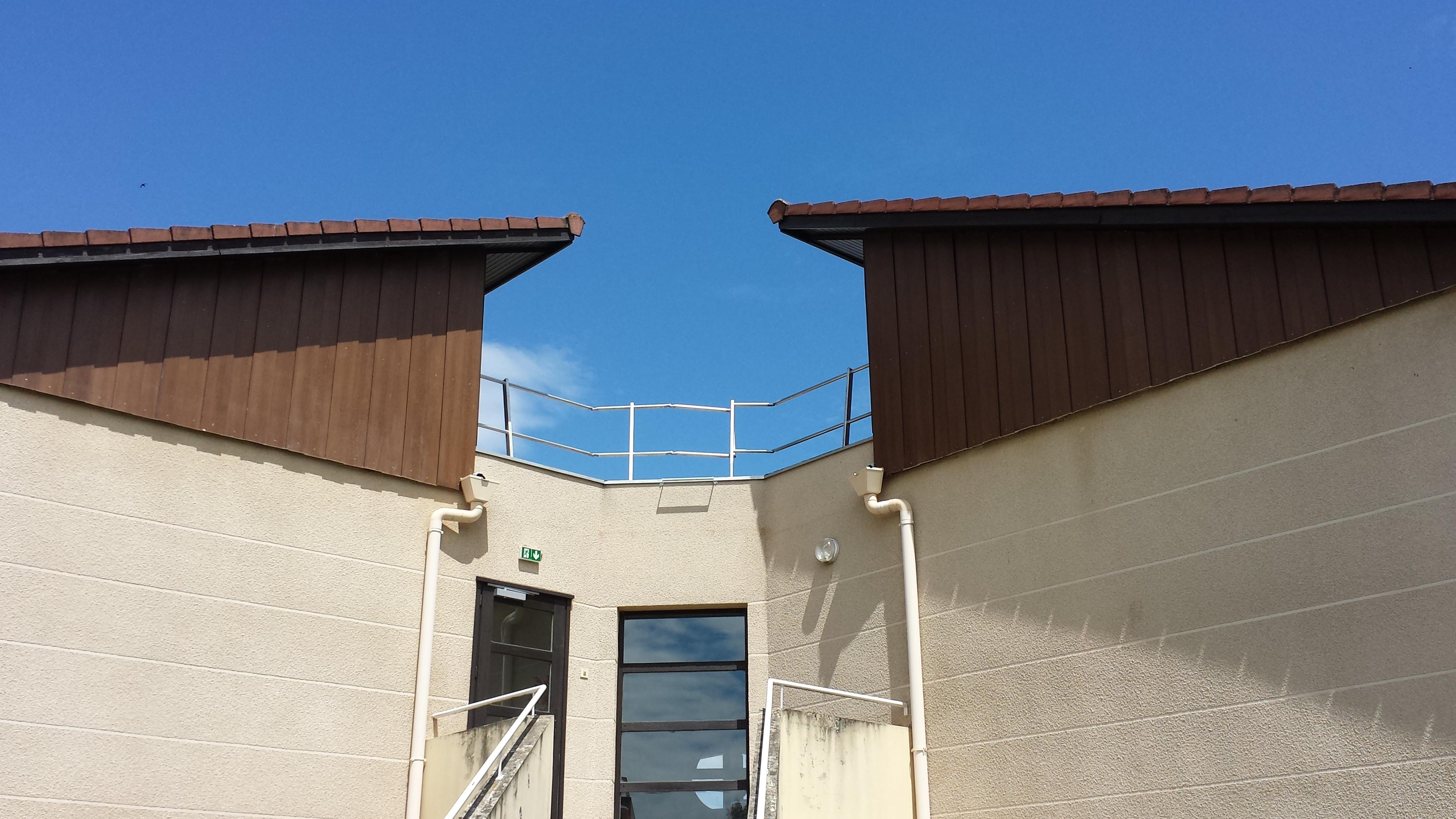 garde corps autoportants pour protection toiture terrasse s curise toit. Black Bedroom Furniture Sets. Home Design Ideas